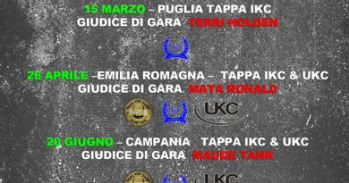 Calendario Campionato 2015 IKC - Italy Kennel Club