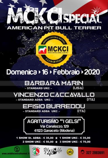 MCKCI APBT Modena Show Febbraio 2020